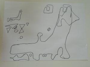 私が頑張って描いた日本地図。