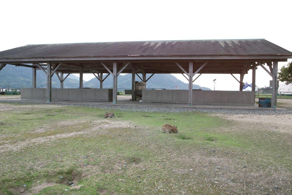 大久野島キャンプ場炊事場の写真