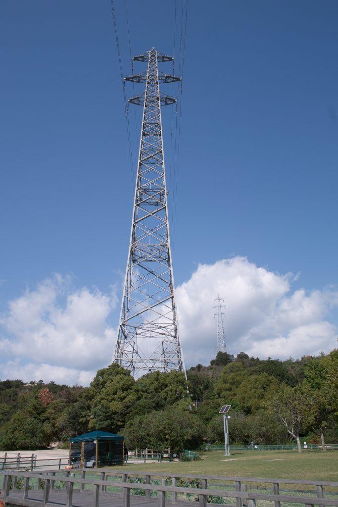 大久野島の鉄塔の写真